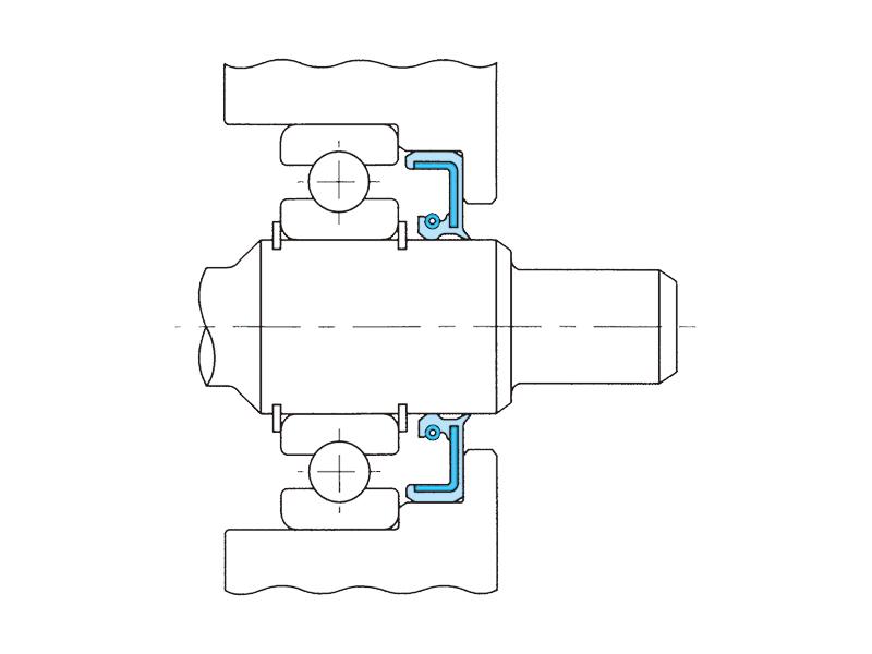 油圧ポンプ用オイルシールの画像