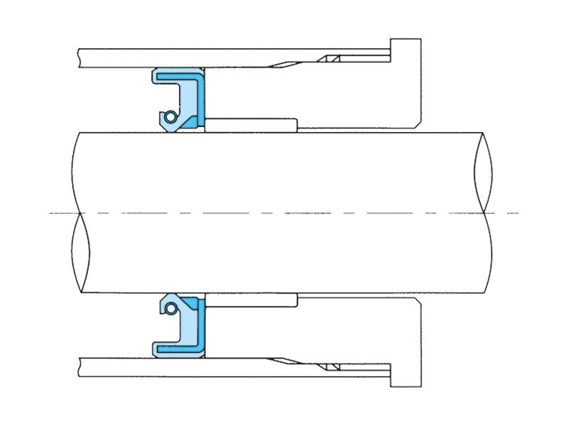 パワーステアリングラック軸用オイルシールの画像
